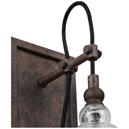 "Feiss Loras 17"" High Dark Weathered Iron Wall Sconce"
