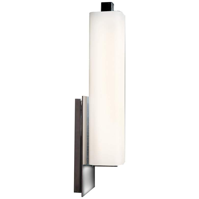 "Chic 4 1/2"" Wide Chrome Opal Glass LED Wall Sconce more views"