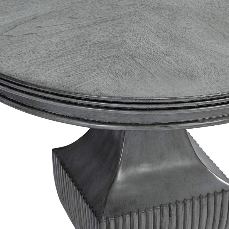 "Braham 26"" Wide Magnet Burnished Gray Round Accent Table more views"