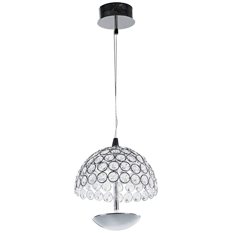 "ET2 Parasol 6"" Wide Polished Chrome LED Mini Pendant more views"