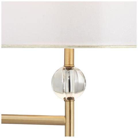 Kohle Brass And Acrylic Ball Swing Arm Plug In Wall Lamp by Lamps Plus