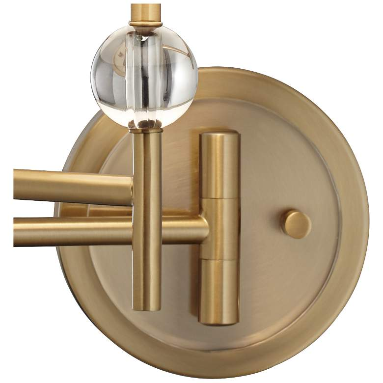 Kohle Brass and Acrylic Ball Swing Arm Plug-In Wall Lamp more views