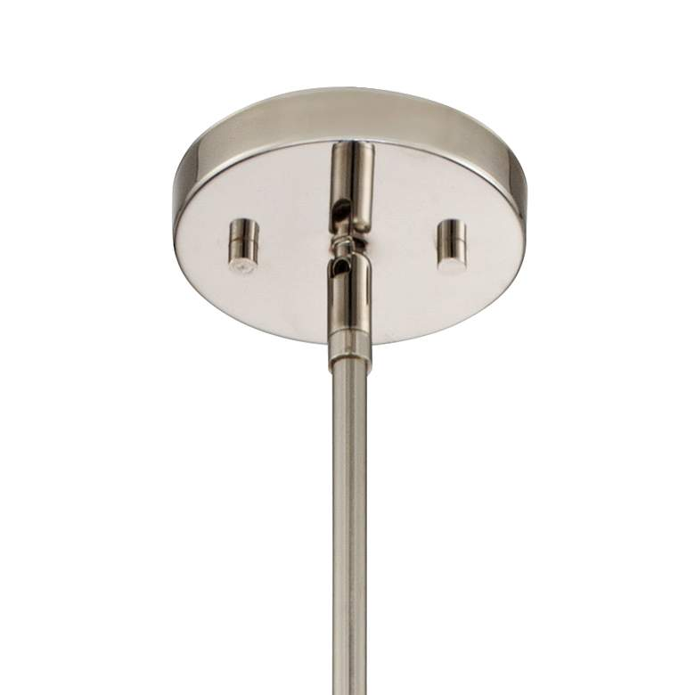 "Possini Euro Janae 29 1/2""W Polished Nickel Pendant Light more views"
