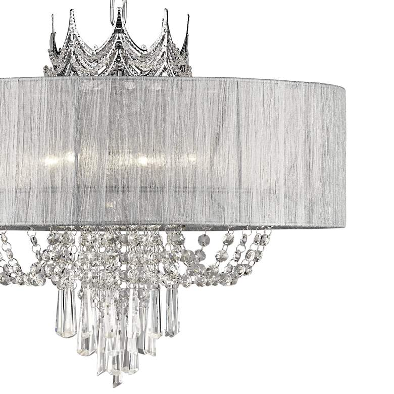 "Hallie 21"" Wide Draped Crown Crystal 6-Light Chandelier more views"