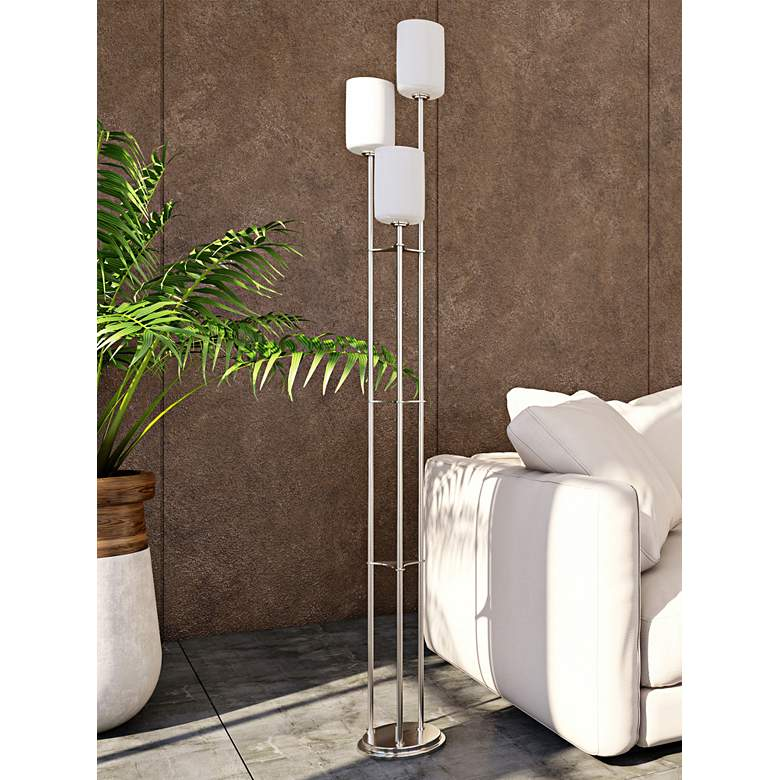Lite Source Bess Brushed Nickel Metal 3-Light Floor Lamp more views