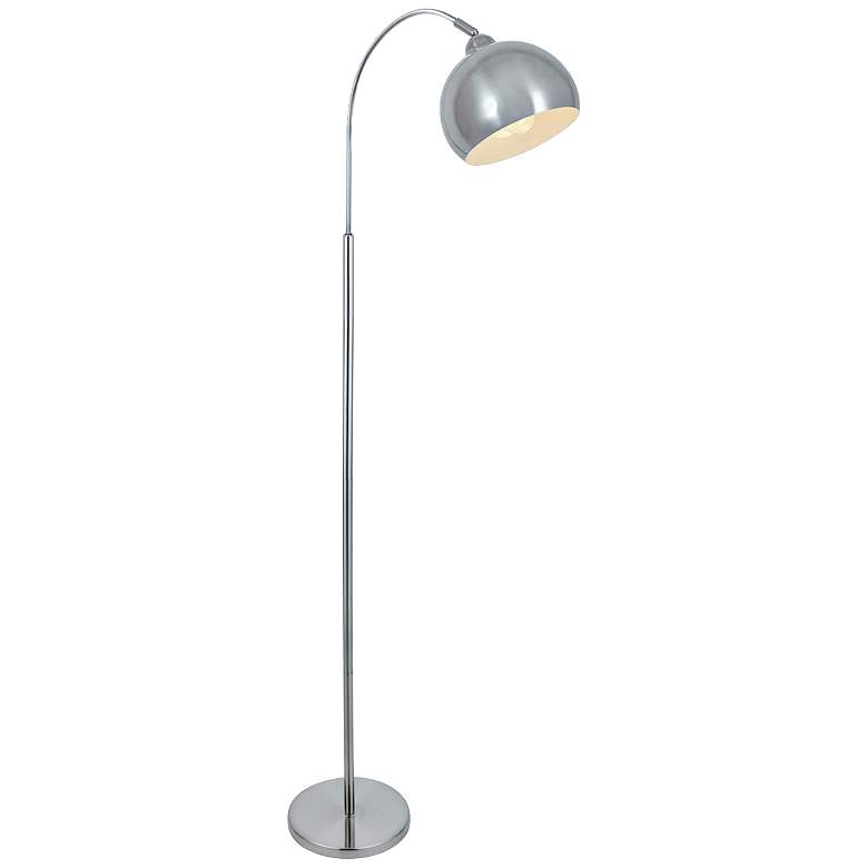 Lite Source Palesa Polished Steel Metal Floor Lamp more views