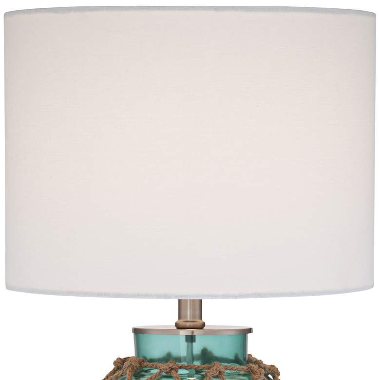Crosby Blue-Green Bottle with Rope Glass Table Lamp more views