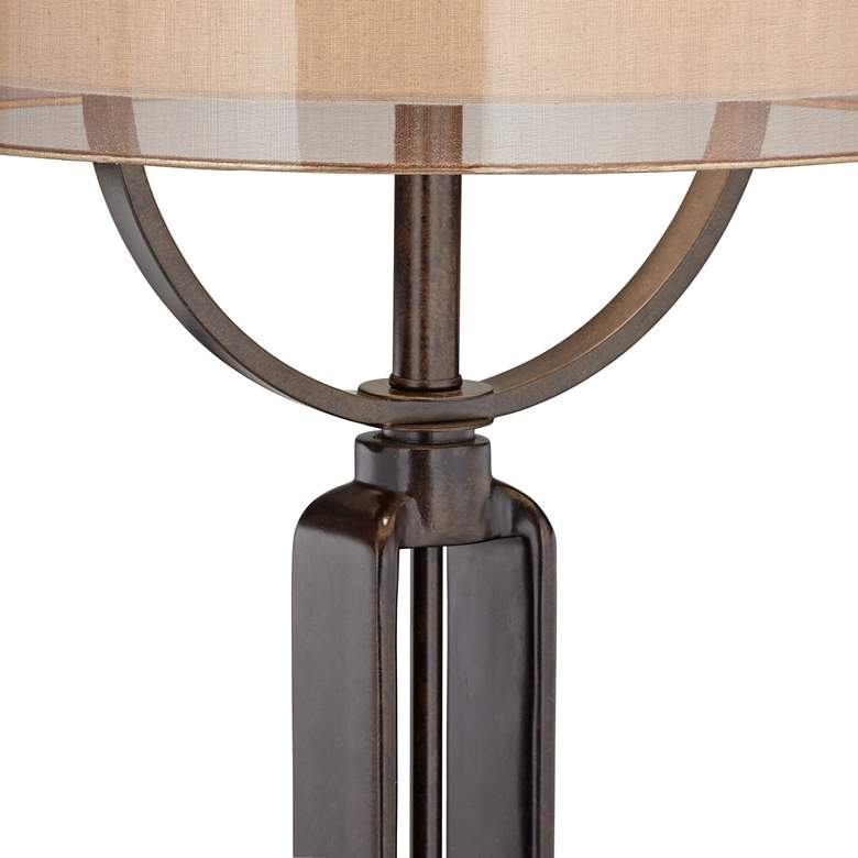 Franklin Iron Works Monroe Industrial Table Lamp more views