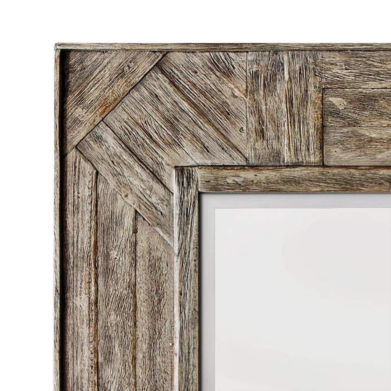 "Fortuo Wood 32"" x 43 1/2"" Rectangular Wall Mirror more views"