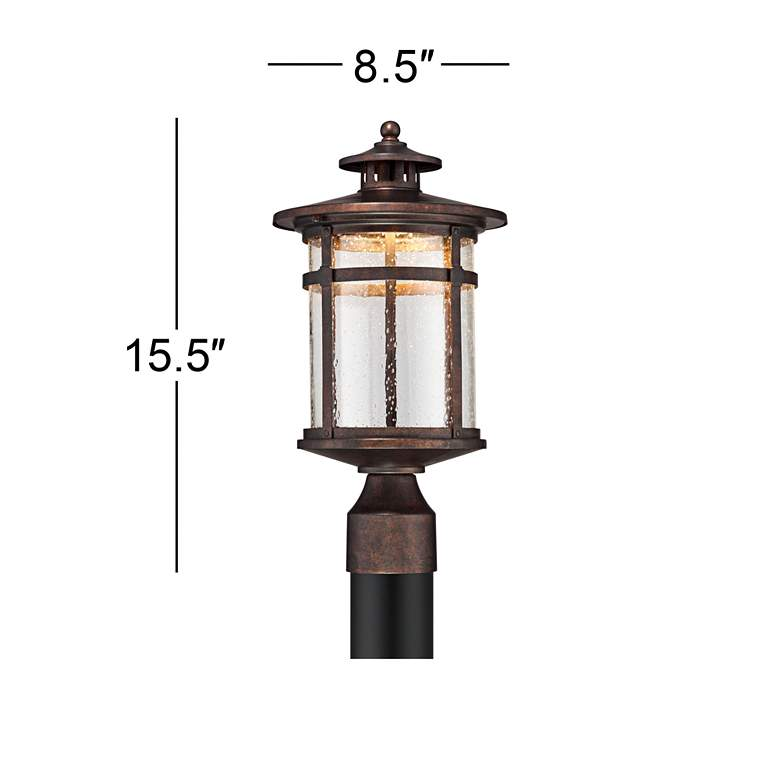 "Callaway 15 1/2"" High Rustic Bronze LED Outdoor Post Light more views"
