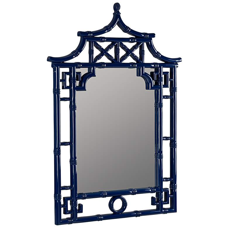 "Pinlo Cobalt Blue 28"" x 42"" Pagoda Wall Mirror more views"