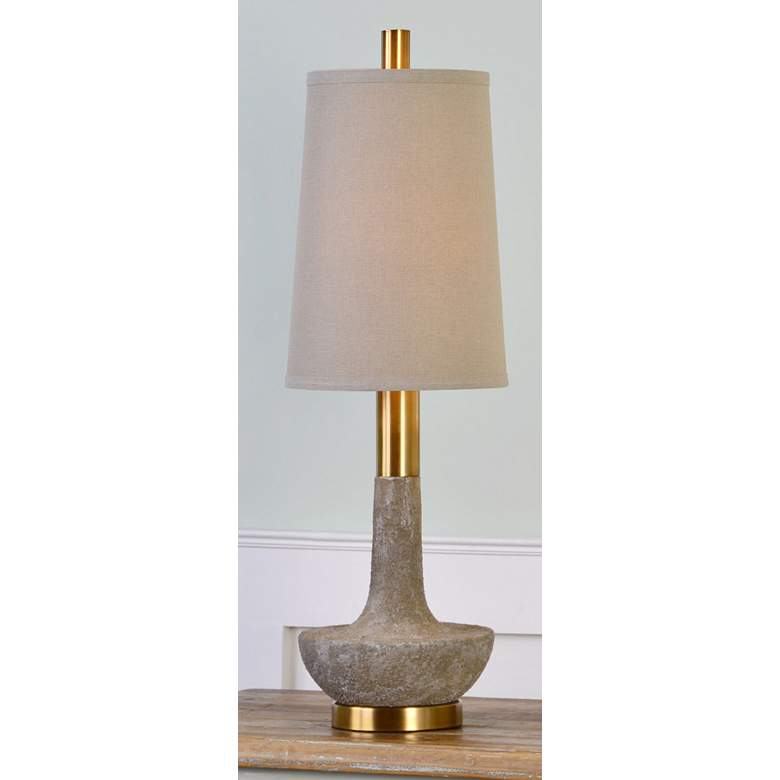 Uttermost Volongo Textured Stone Ivory Table Lamp more views