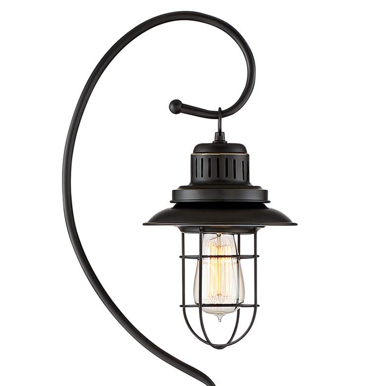 Ulysses Oil-Rubbed Bronze Industrial Lantern Floor Lamp more views