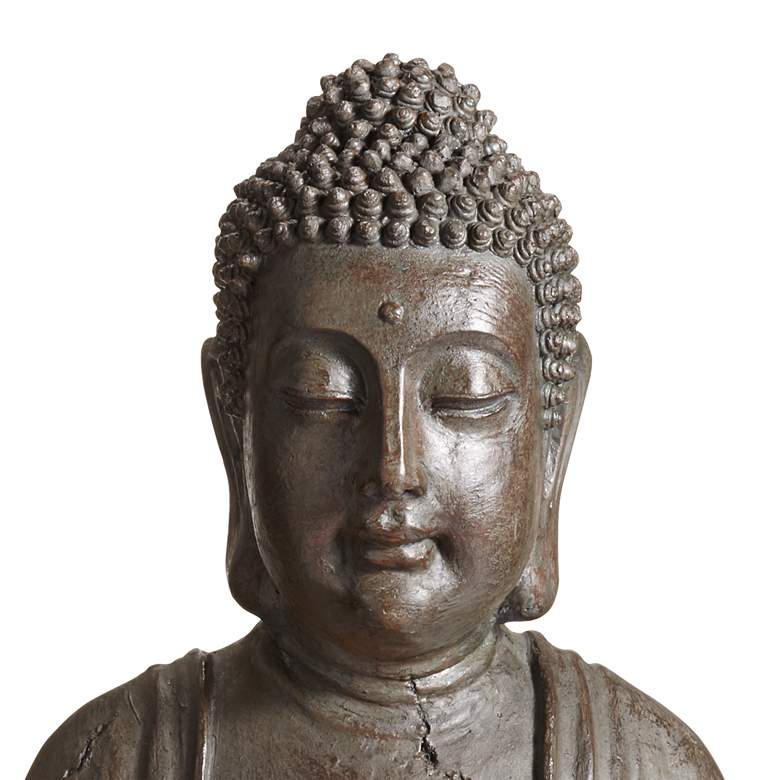 "Meditating Buddha 33 1/2"" High Indoor-Outdoor Water Fountain more views"