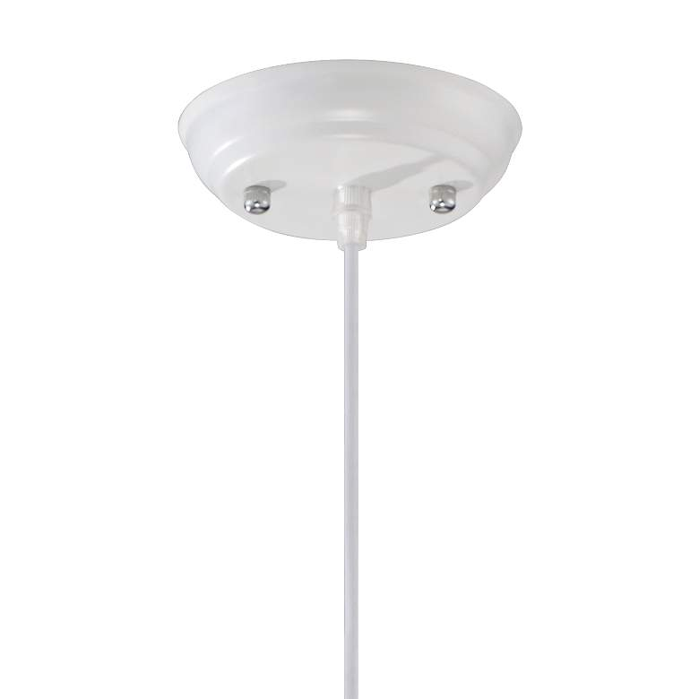"Felton White Aluminum and Wood 14"" Wide Pendant Light more views"