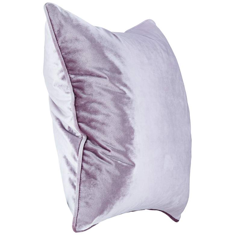 "Tessa Lavender Velvet 18"" Square Decorative Pillow more views"