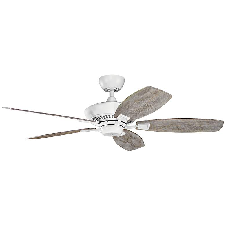 "52"" Kichler Canfield Matte White Ceiling Fan more views"
