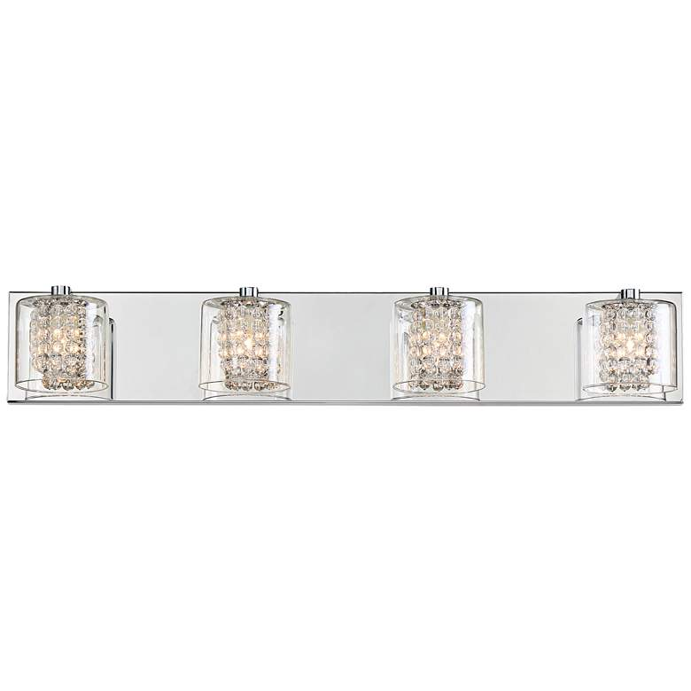"Possini Euro Coco 28 1/2"" Wide Chrome 4-Light Bath Light more views"