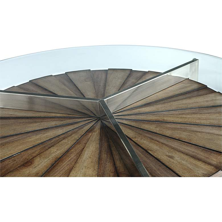 "Rialto 22"" Wide Glass Top Modern Round End Table more views"