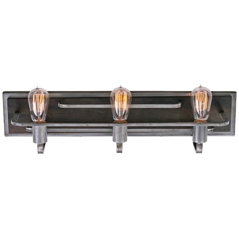 "Varaluz Lofty 25 1/2"" Wide Steel and Wood Bath Light more views"