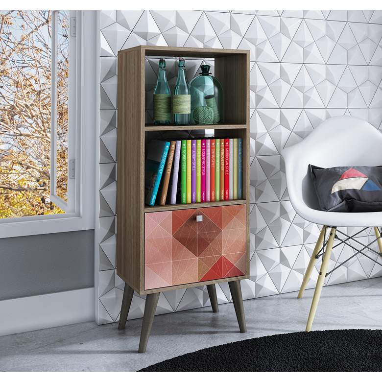"Sami 44"" High Multi-Color and Oak Modern Bookcase more views"