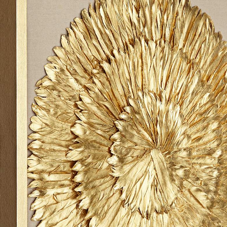 "Golden Feathers 31 1/2"" High Wall Art Set of 3 more views"