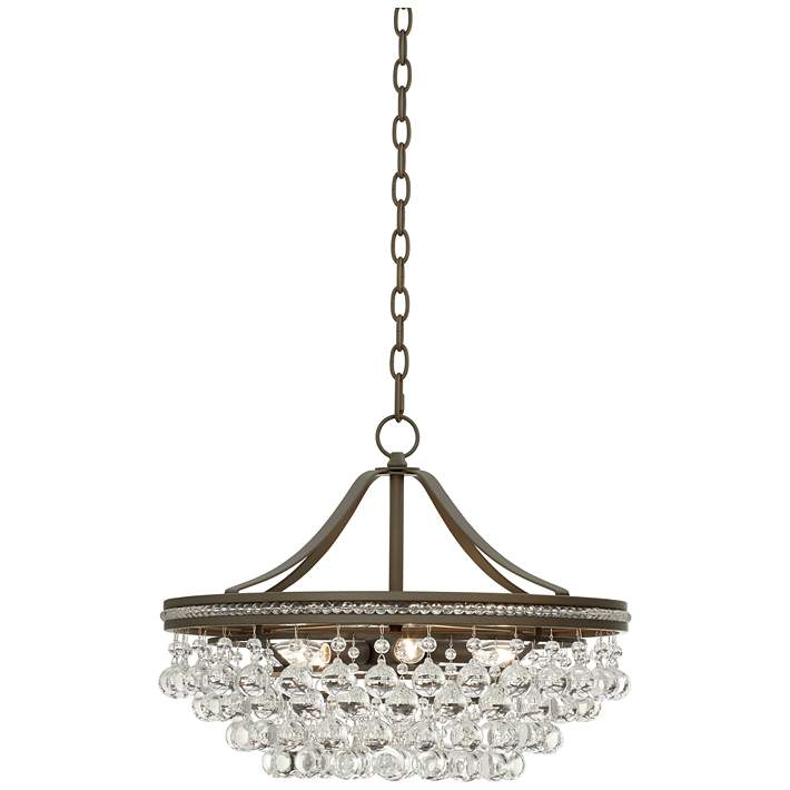 Wohlfurst Bronze Crystal Pendant Light