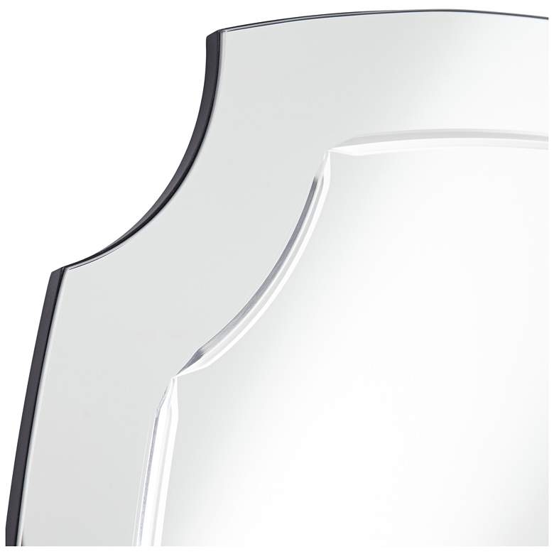"Pajaro Black 27 1/2"" x 39 1/2"" Oval Cut Wall Mirror more views"