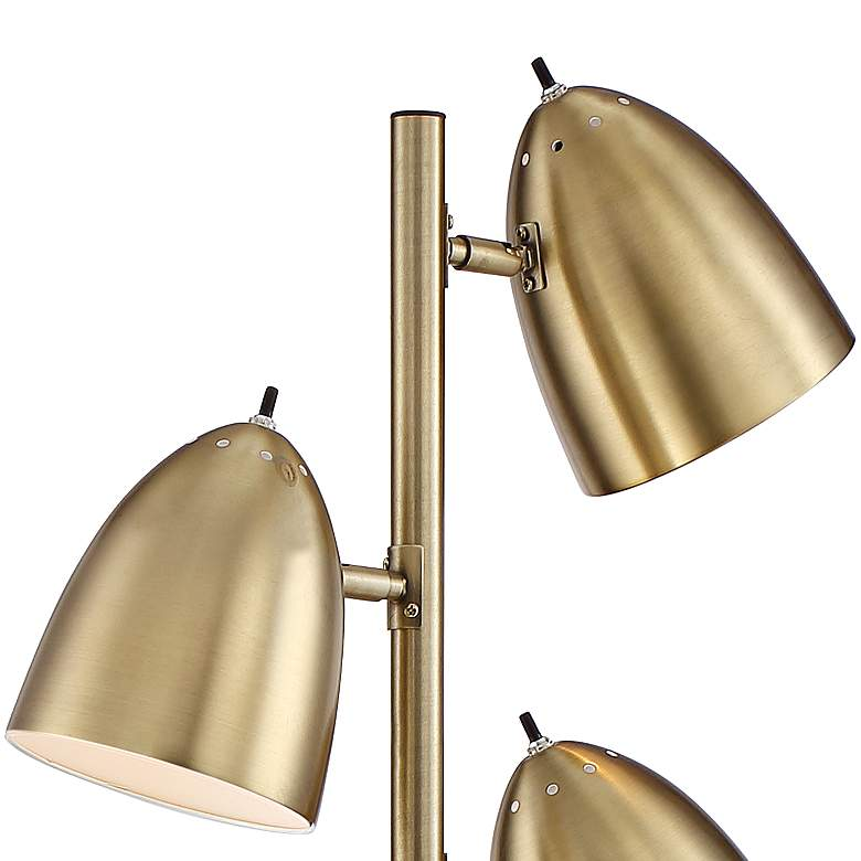 Aaron Aged Brass 3-Light Floor Lamp more views