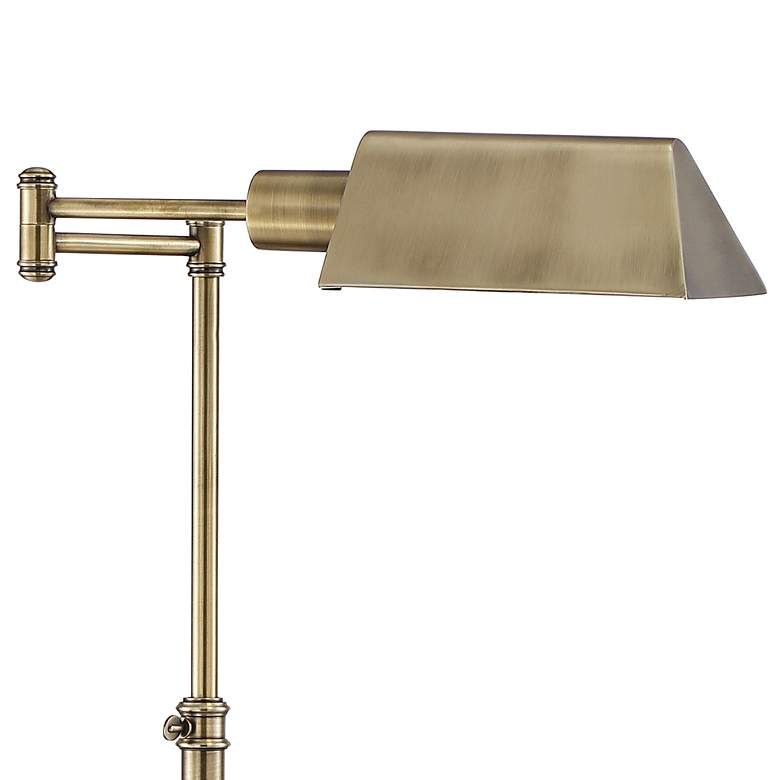 Jenson Aged Brass Adjustable Pharmacy Floor Lamp more views
