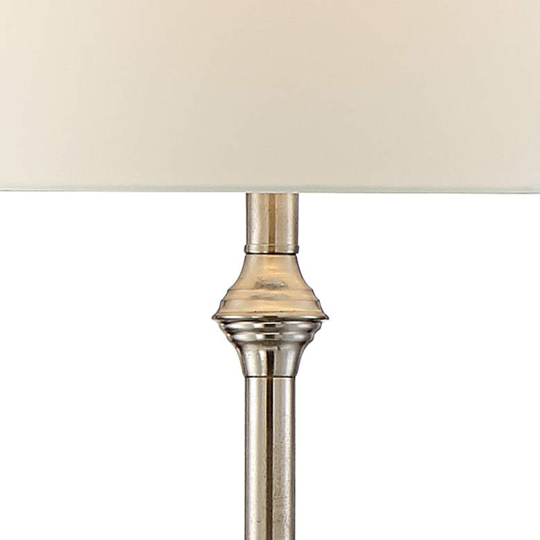 Dayton Satin Nickel Floor Lamp with Glass Tray Table more views