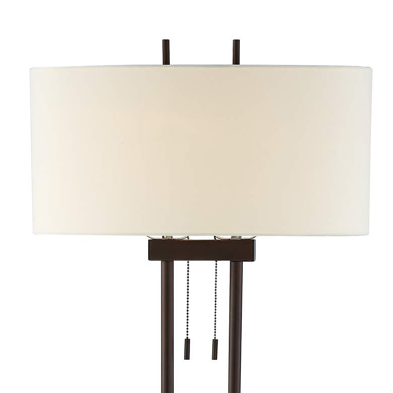 Roscoe Bronze Twin Pole Floor Lamp more views