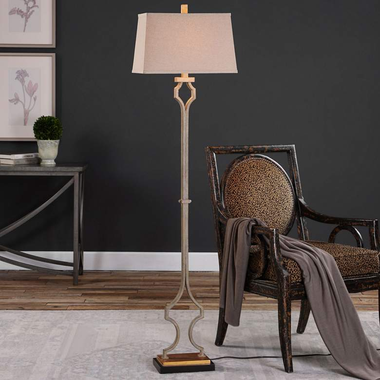 "Uttermost Vincent 65"" High Hand-Forged Metal Floor Lamp more views"