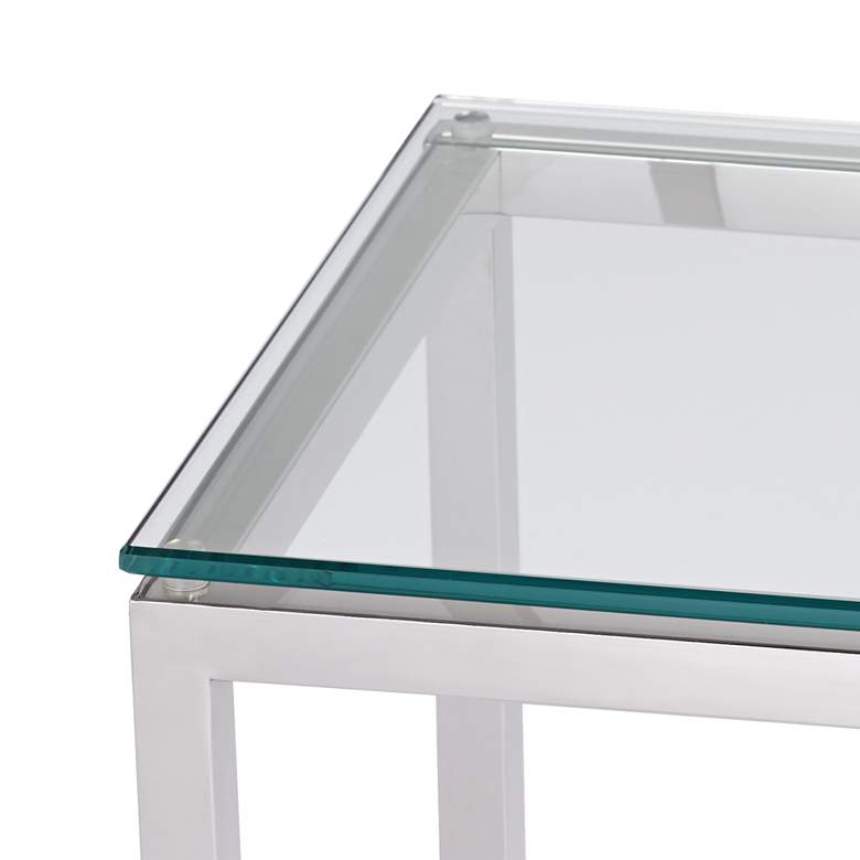 "Krista 47 1/2"" Wide Modern Glass Console Table more views"