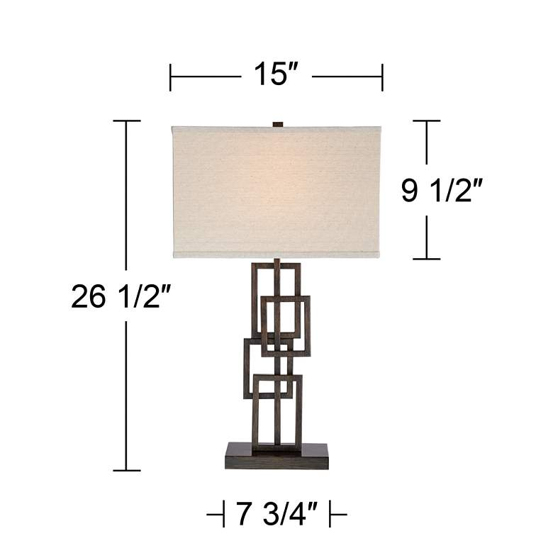 Kory Stacked Rectangles Bronze Table Lamp more views