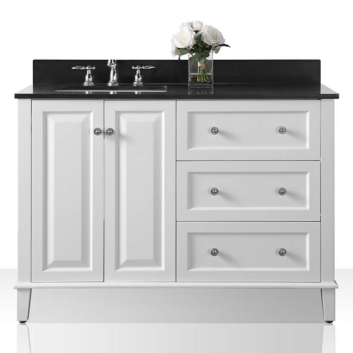 Granite Top Off Center Left Sink Vanity