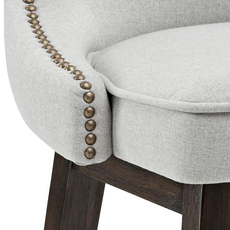 "Ariana Light Gray Fabric 29 1/2"" Swivel Barstool more views"