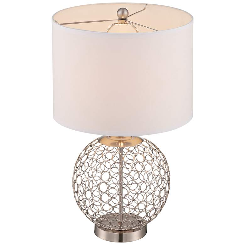 Lite Source Mabon Steel Ring Open Globe Table Lamp more views