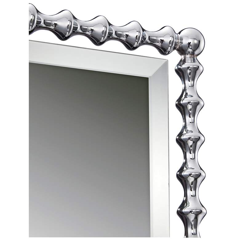 "Quoizel Shelburne Chrome 25 1/2"" x 33"" Steel Mirror more views"