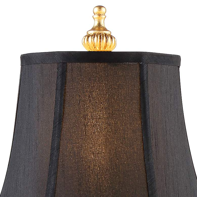 Juliette Bright Gold Black Shade Buffet Table Lamp Set of 2 more views
