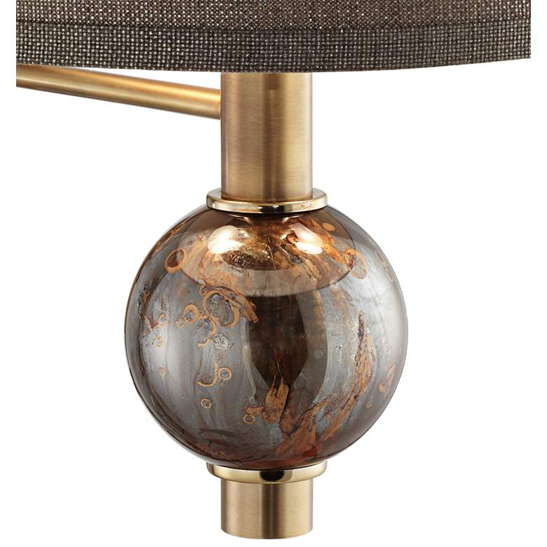 Richford Brass Plug-In Swing Arm Wall Lamp with Dimmer more views