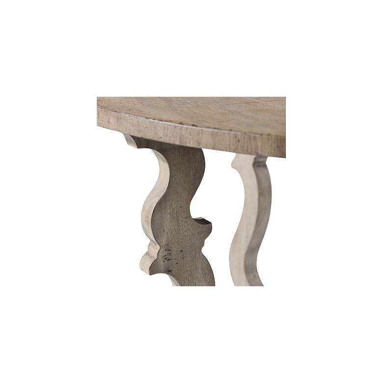 "English Joiner 48"" Wide Demilune Console Table more views"