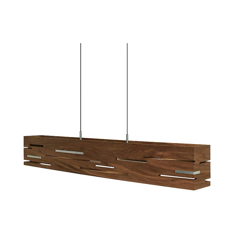 "Aeris 30"" Wide Oiled Walnut LED Kitchen Island Light Pendant more views"