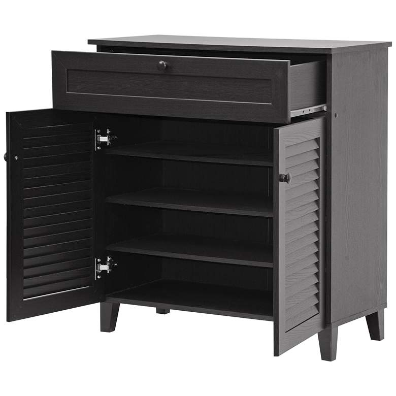 "Calvin 30 3/4"" Wide Espresso Finish Shoe Cabinet more views"
