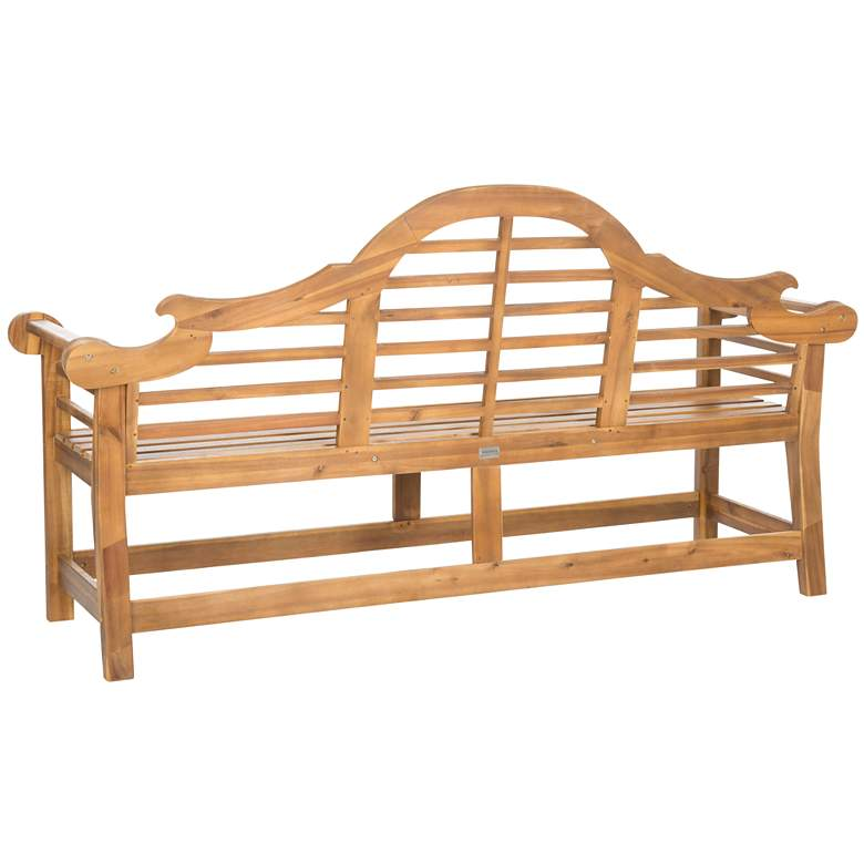 Branson Brown Wood Outdoor Lutyens Bench more views