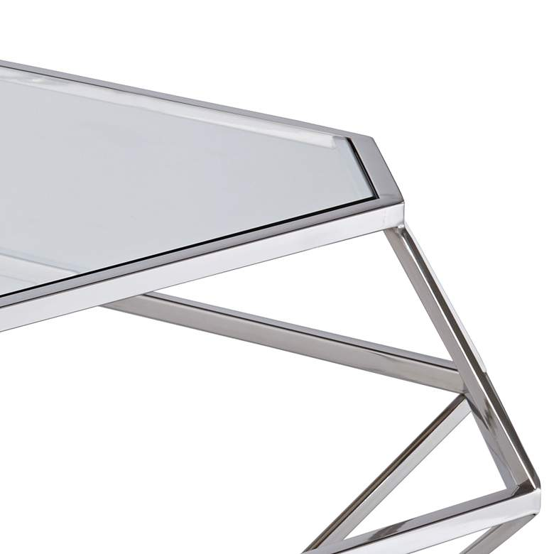 "Venus 39 1/2"" Wide Geometric Glass Modern Coffee Table more views"