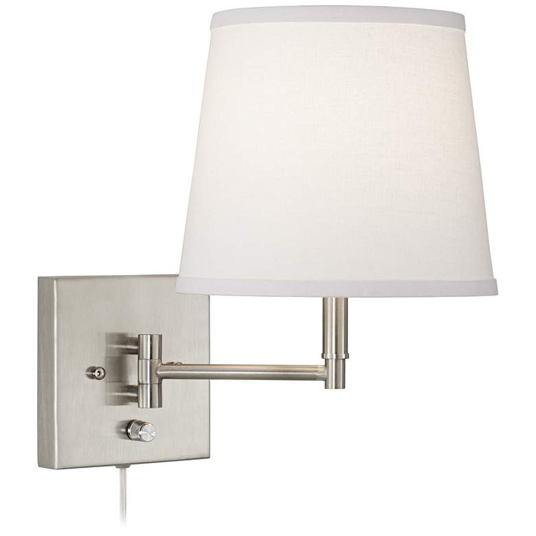 Lanett Brushed Nickel Swing Arm Plug-In Wall Lamp Set of 2 more views