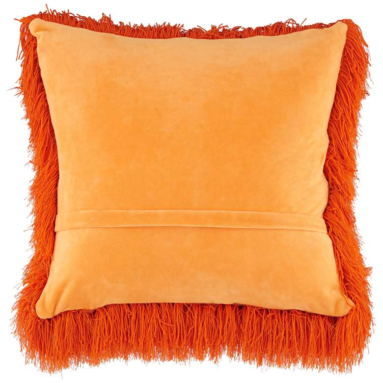 "Dallas Orange 20"" Square Decorative Shag Pillow more views"