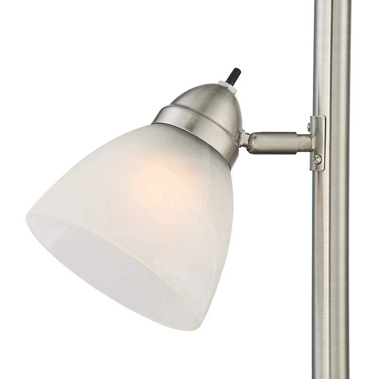 Ellery Brushed Nickel Tree Torchiere 3 Light Floor Lamp more views