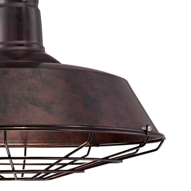 "Tiedra Bronze 18 1/4"" Wide Industrial Cage Pendant Light"